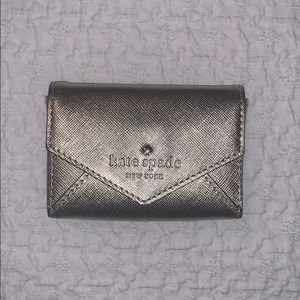 Gold Leather Kate Spade Card Holder